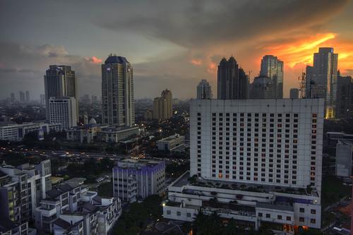 city sunset indonesia landscape cityscape view jakarta sog kemang gatot flickrdiamond surdimanindonesia