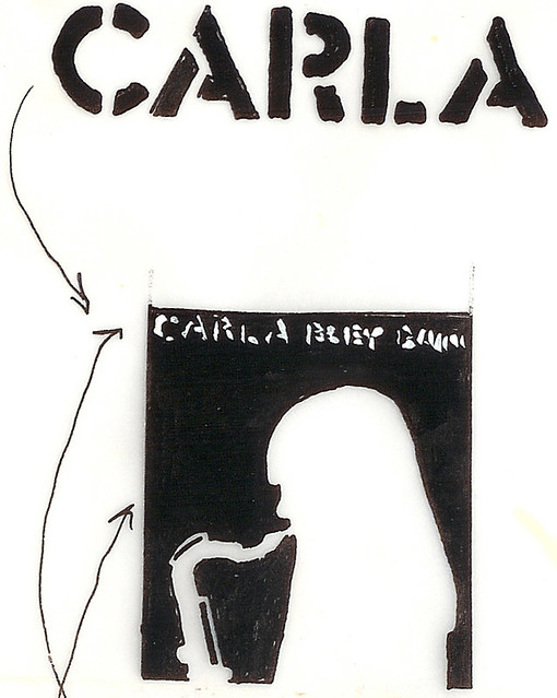 Carla Bley t-shirt sketch detail