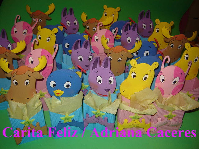 GOLOSINEROS BACKYARDIGANS EN GOMA EVA | Flickr - Photo Sharing!