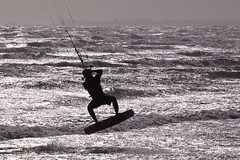 surface water sports, boardsport, sports, sea, surfing, ocean, wind, monochrome photography, wind wave, wave, water sport, physical fitness, black-and-white, kitesurfing, surfboard, black,