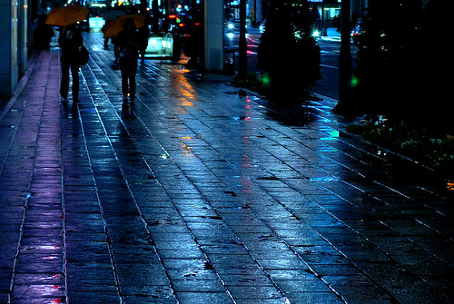 rainy night street @Ginza / May 05