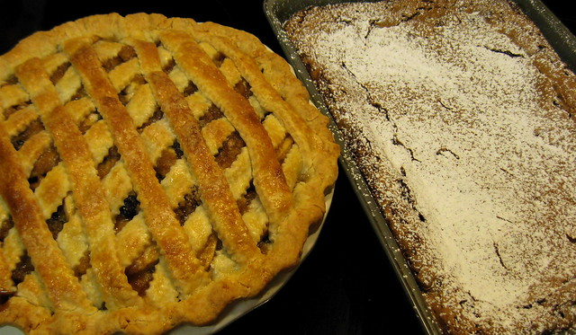 Apple-Dried Cherry Pie & Double Chocolate Gooey Butter Cake | Flickr ...