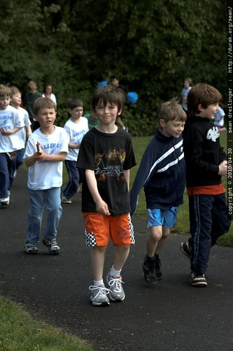 nick doing a lap in the jog a thon