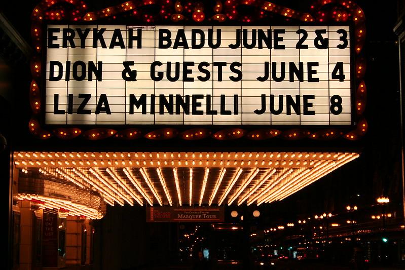 Erykah Badu, Dion and Liza Minnelli in Chicago