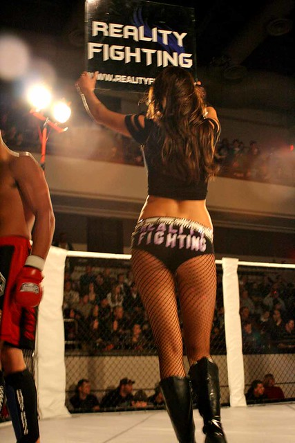 Ring Girl / Round 1  -  Christopher D. LeClaire photo, 2009