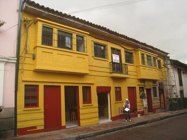 Colorful building in La Candelaria