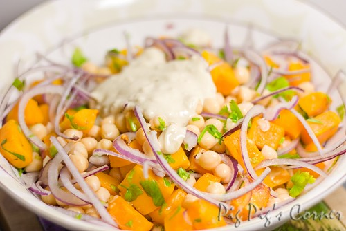 Warm Butternut Squash & Chickpea Salad with Tahini ...