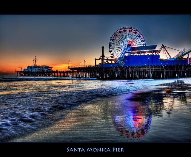 Santa Monica Pier por Pedro Szekely