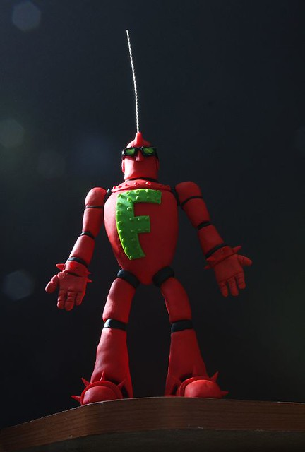 Finished Fredbot puppet