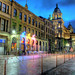 Glasgow's Merchant City By Night After Rain Shower