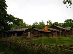 Stockholm, Skansen, old farm houses