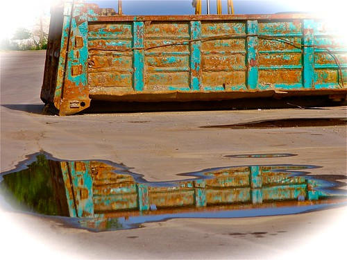 a little rust beside the water....