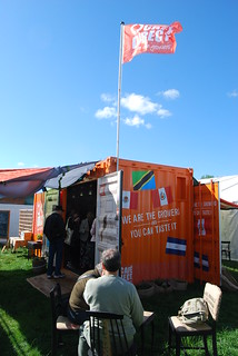 the flag is flying over the Container House - we're home!
