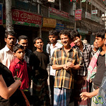Always a Crowd Around Us in Old Dhaka, Bangladesh
