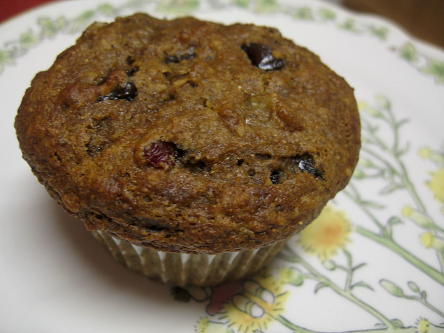 banana muffin with chocolate chips and dried cherries | Flickr - Photo ...