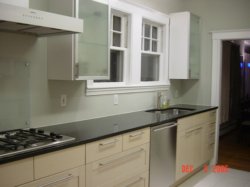 real homes modern kitchen silver green paint deep