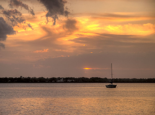 sunset boat north carolina newbern bridgeton