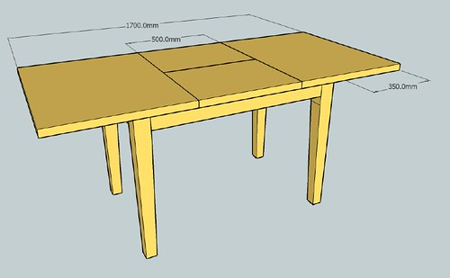 Extending dining table timber selection page 3 for Dining table overhang