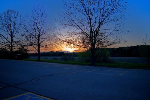 sunset night hdr