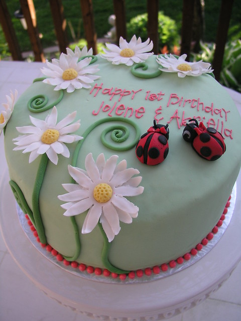 Garden Themed Birthday Cake Flickr Photo Sharing