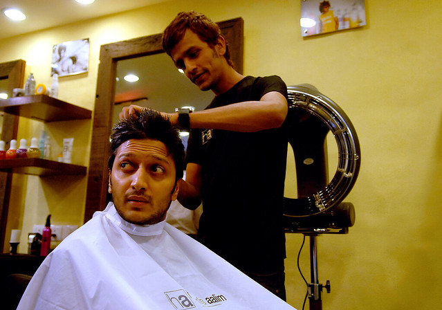 aalim of hakim 39 s aalim opening a new salon at true fitness
