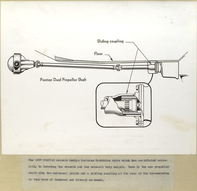 1937 Pontiac chassis design - new propeller shaft with two