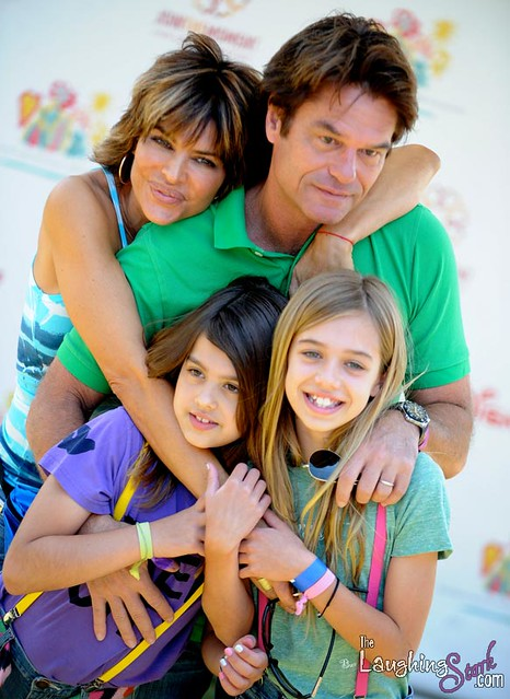 Lisa Rinna with Hubby Harry Hamlin and Daughters Delilah a