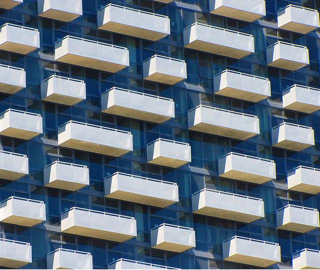 Balcones de los apartamentos 235 Van Buren, Chicago