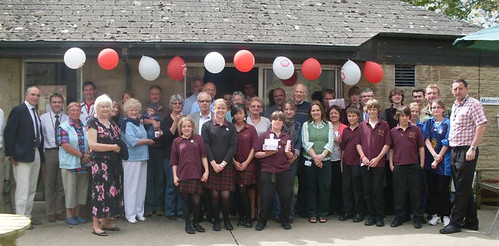 Staff, pupils and friends at Sexeys School