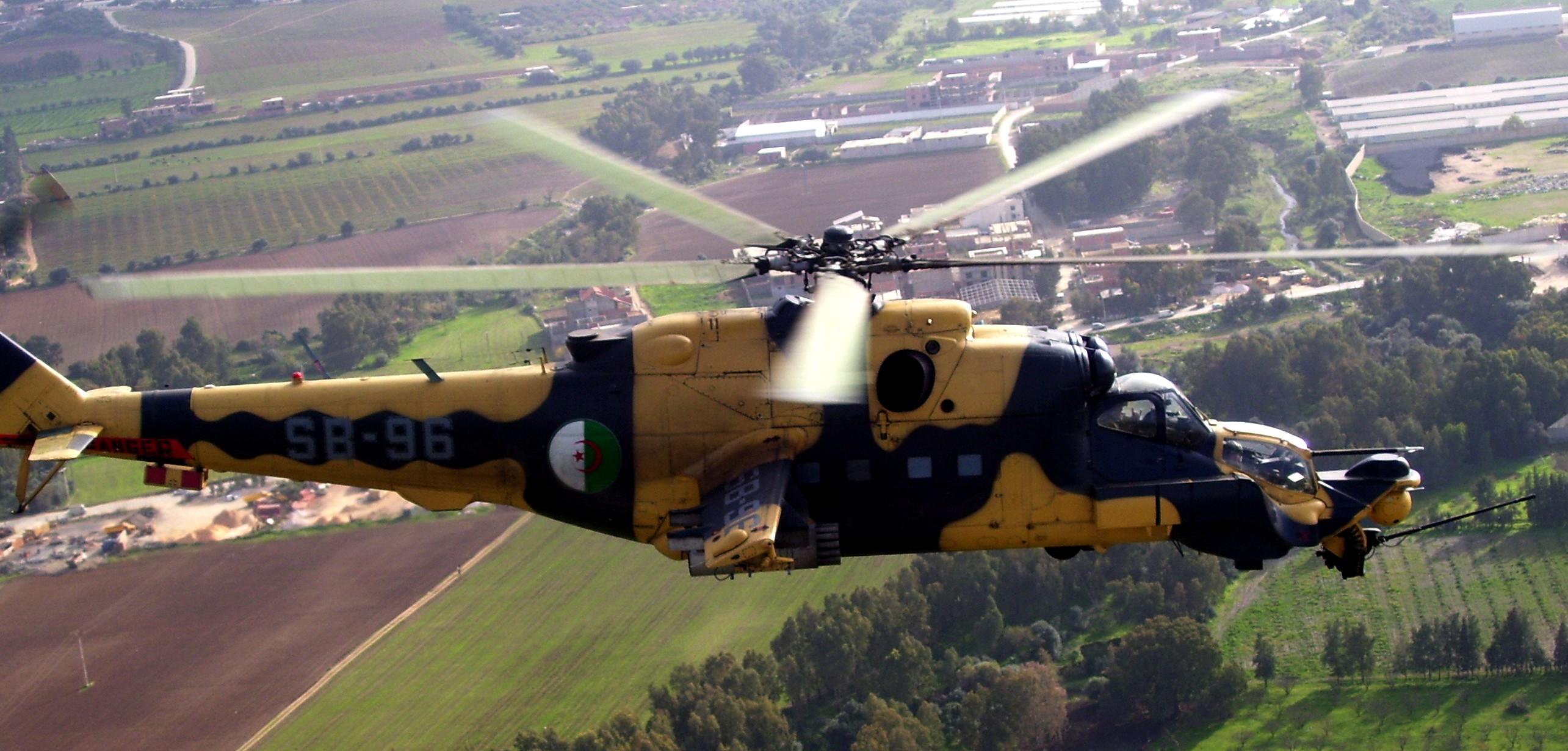 Algerian Air Force Mil Mi-24 MKIII SuperHind [2569 x 1231