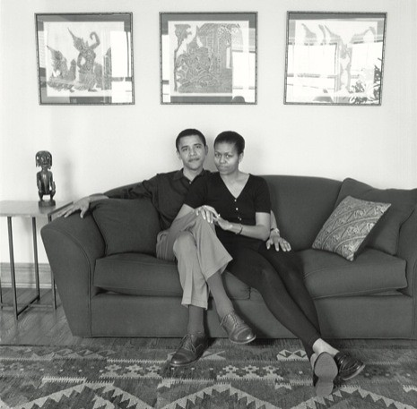 Young Barack and Michelle Obama - Orange Photography