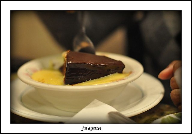 03. Chocolate Cake with hot custard