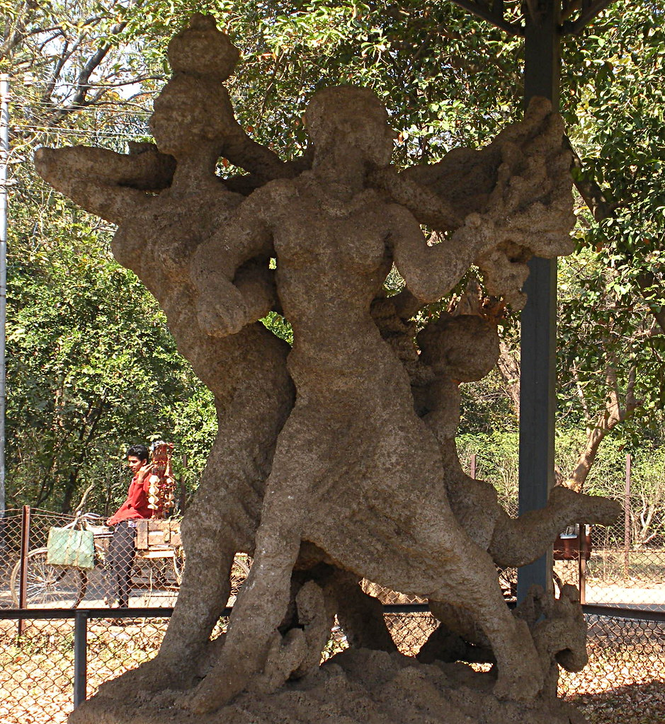 Mill Call - Sculpture by Ramkinkar Baij