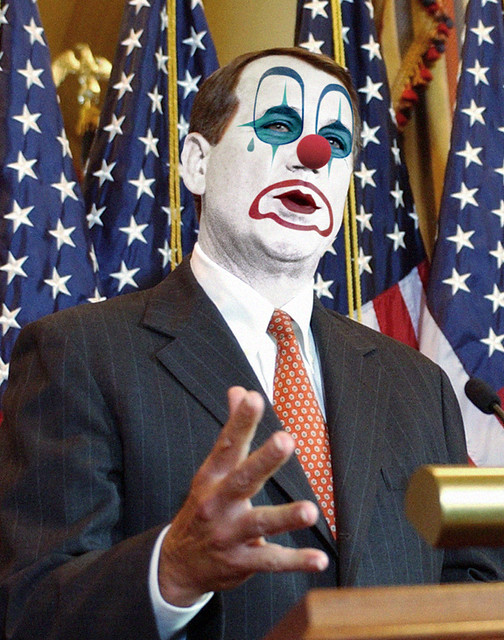 John Boehner (Rep. R-OH):: Obstructionist Republican Clown