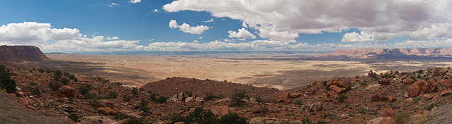 The canyon from far away (panorama)