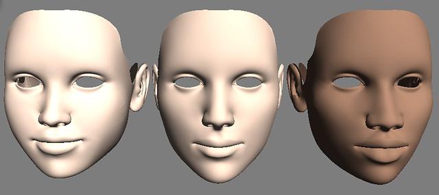 Weird Looking Face Models