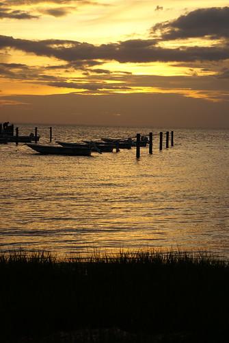 ocean sunset boats chesapeake