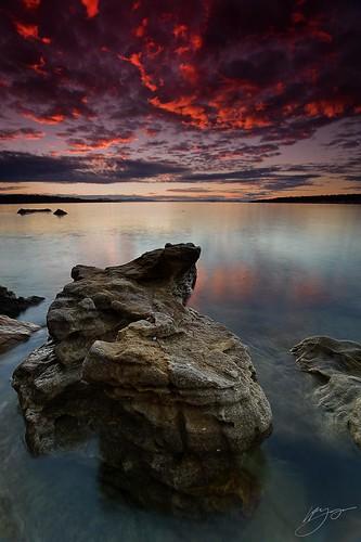 ocean sunset sea sky seascape nature water rock reflections coast nikon sandstone shoreline shore tasmania specialtouch specialpicture d700 theunforgettablepictures nikond700 platinumpeaceaward