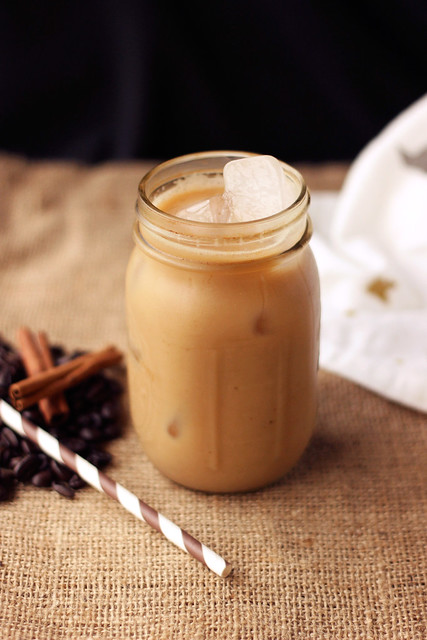 Iced Dirty Chai Almond Milk Lattte {Gluten-free and Vegan}