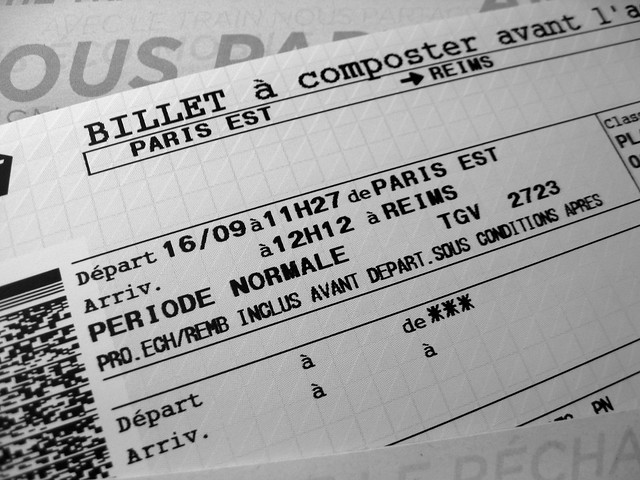 ticket to reims france tgv tegeve gare de l 39 est paris a photo on flickriver. Black Bedroom Furniture Sets. Home Design Ideas
