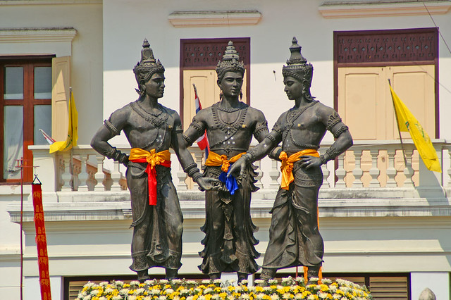 Three Kings statue in Chiang Mai