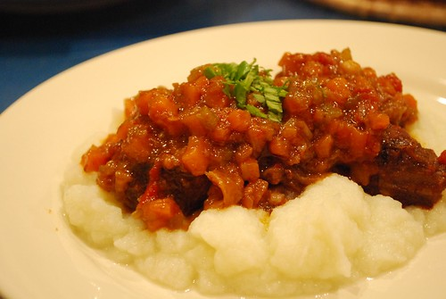 Julia's Osso Bucco with cauliflower puree - photo and styling by Julia