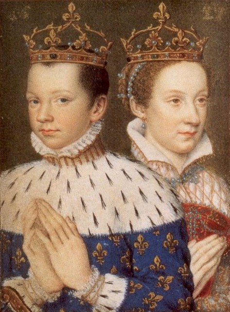 Mary, Queen of Scots, with her husband, King Francis II of ...