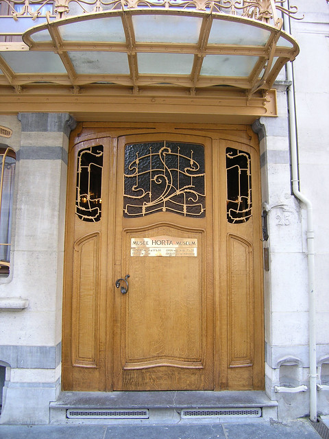 The front door to Musee Horta, 25 Rue Des Americaine