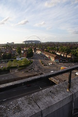 The view from the roof of the North Unisys Tower, Stonebridge.