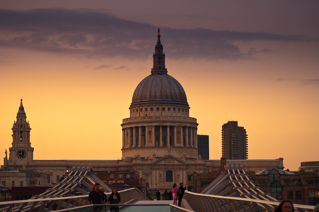St Paul's Cathedral Sunset 02