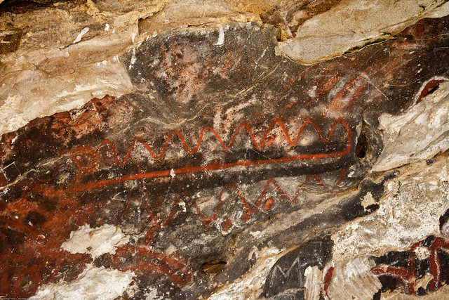 Pictographs on Painted Rock at the Carrizo Plain National Monument, on BLM property near Soda Lake.