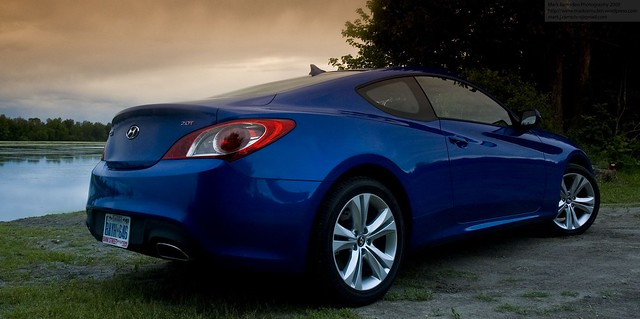 2010 Genesis Coupe rear quarter