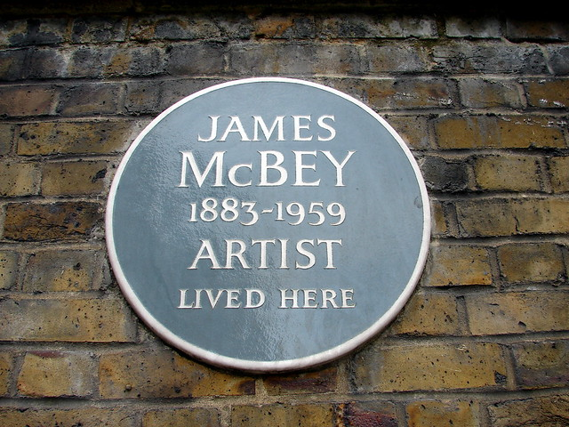 James McBey grey plaque - James McBey 1883-1959 Artist lived here