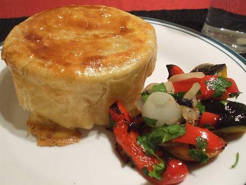 Australian Meat Pie with Grilled Vegetable Salad